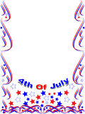 Patriotic frame border 4th july. A patriotic frame border with stars and stripes of 4th July Royalty Free Stock Photo
