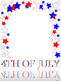 Patriotic frame border 4th july. A patriotic frame border with stars and stripes of 4th July Royalty Free Stock Photography