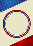 Patriotic Frame Border. Vector illustration of red stripes and the stars on blue stripes page border / frame design Royalty Free Stock Photo
