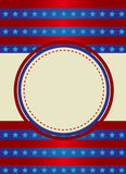 Patriotic Frame Border. Vector illustration of red stripes and the stars on blue stripes page border / frame design Royalty Free Stock Images