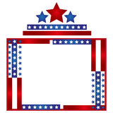 Patriotic Frame Border. Vector illustration of red stripes and the stars on blue stripes page border / frame design Royalty Free Stock Image