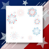 Patriotic frame Independence day. Festive frame for American Happy Independence day, Memorial, Veteran day, Labor Day Holiday banner with American national flag Royalty Free Stock Photography