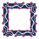 Patriotic frame - square. Square patriotic frame stock illustration