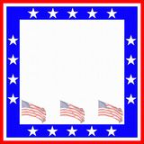 Patriotic Frame Stock Photography