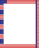 Patriotic frame. A vector drawing represents patriotic frame design Royalty Free Stock Images