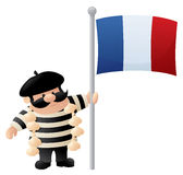 Patriotic Frenchman Royalty Free Stock Image