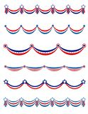 Patriotic garland. S collection with blue and red stars Stock Photo
