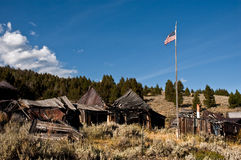 Patriotic ghost town Royalty Free Stock Photos