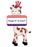 Patriotic giraffe Royalty Free Stock Photo