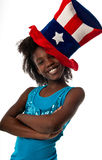 Patriotic Girl Stock Photos