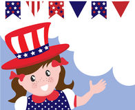 Patriotic girl Royalty Free Stock Photography