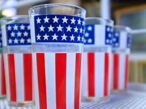 Patriotic Glassware Stock Photos