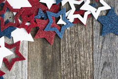 Patriotic Glitter Stars Royalty Free Stock Photography