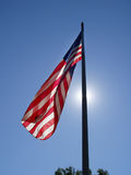 Patriotic Glow. Taken in Saratoga Springs, NY Stock Photo