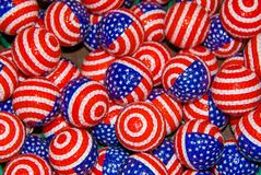 Patriotic Golfballs Stock Photo