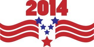 2014 Patriotic Graphic Stock Photos