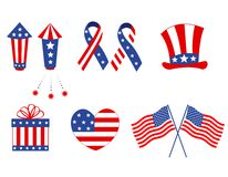 Patriotic Graphics Royalty Free Stock Images