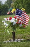 Patriotic Grave Decoration Royalty Free Stock Photos