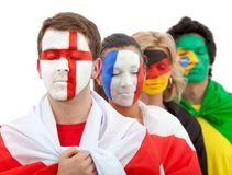 Patriotic group of people Stock Photography