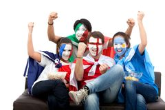 Patriotic group of people Royalty Free Stock Photo