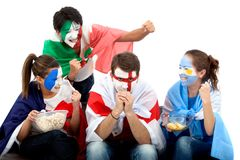 Patriotic group of people Royalty Free Stock Photos