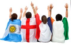 Patriotic group of people Stock Images
