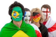 Patriotic group of people Royalty Free Stock Images