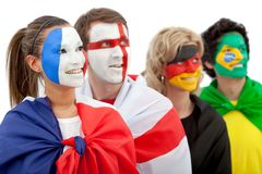 Patriotic group of people Stock Photos