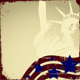 Patriotic Grunge. Patriotic background with grunge elements royalty free illustration