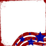 Patriotic Grunge. Grunge Background with patriotic stars and stripes Stock Photos