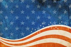 Patriotic grunge background. Stock Photos