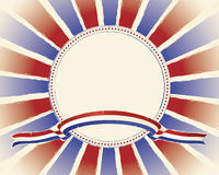 Patriotic Grunge Banner and Burst Layout Royalty Free Stock Photos