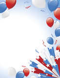 Patriotic Grunge Banner and Burst Layout Stock Photography