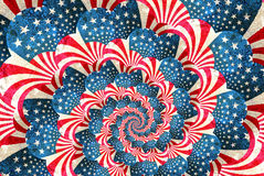 Patriotic grunge swirl with stars and stripes Stock Image