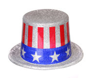 Patriotic Hat with American Flag isolated Stock Image