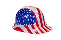 Patriotic Hat. A patriotic hat for the Fourth of July against a white background stock images