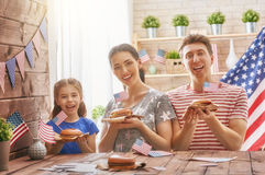 Patriotic holiday. Happy family Royalty Free Stock Image