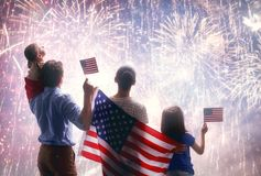 Patriotic holiday. Happy family Royalty Free Stock Photography