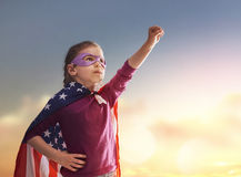 Patriotic holiday and happy kid Royalty Free Stock Photos