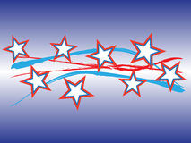 Patriotic -- horizontal. Abstract Patriotic themed with stars and stripes -- horizontal royalty free illustration