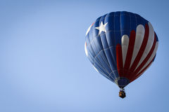 Patriotic Hot Air Balloon Above Stock Images