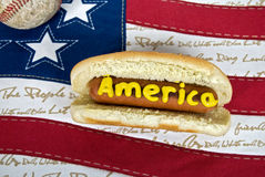 Patriotic Hot Dog Royalty Free Stock Photo