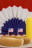 Patriotic Hot Dogs Vertical Royalty Free Stock Images