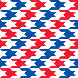 Patriotic Houndstooth 2 Royalty Free Stock Images