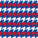 Patriotic Houndstooth 1 Stock Photo