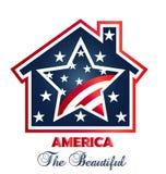Patriotic house logo Stock Image