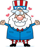 Patriotic Hug stock illustration