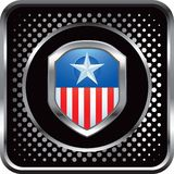 Patriotic icon on black halftone web icon Royalty Free Stock Photos