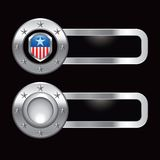 Patriotic icon on metal banners Stock Photography