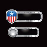 Patriotic icon on metal templates Stock Image